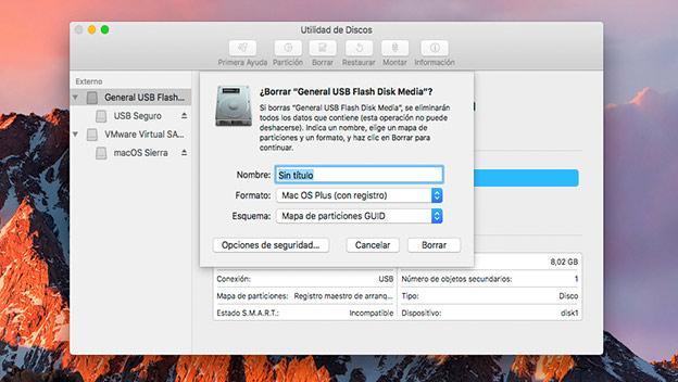 cifrar unidades externas mac