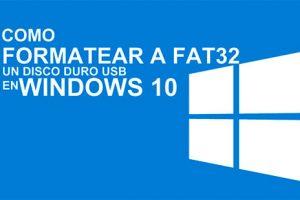 formatear disco duro externo a fat32
