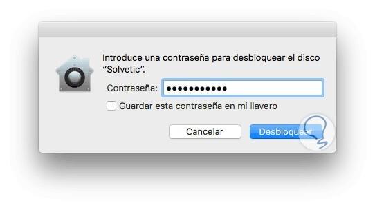 introducir contraseña disco duro mac