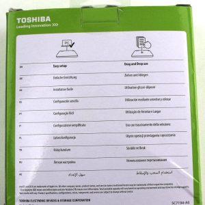 Toshiba Canvio Basics 2TB foto trasera de la caja