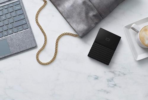 WD My Passport Portable USB 3.0 - tamaño comparador
